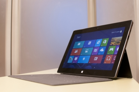 Side view of a Microsoft Surface Tablet